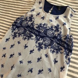 Forever 21 island print tank top, size M